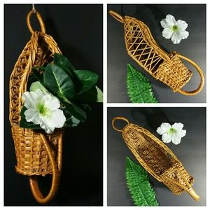 VNTG Rattan ~ Wicker  Hanging Basket